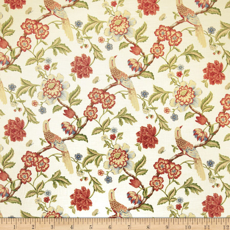 Jaclyn Smith Anna Floral Blend Punch Fabric