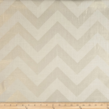 Jaclyn Smith Buster Linen/Cotton Gold Metallic Fabric