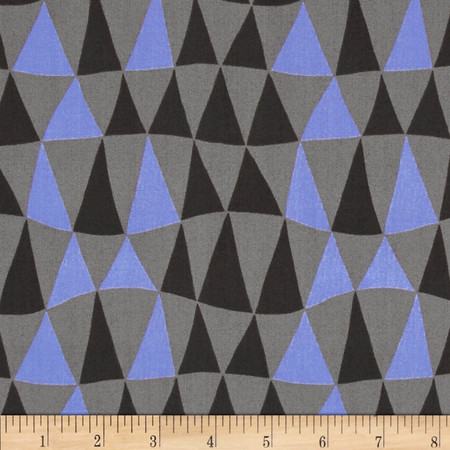 Jane Sassaman Prairie Chic Triangle Twist Charcoal Fabric By The Yard