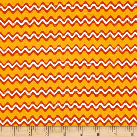 Jeepers Creepers Stripe Gold Fabric By The Yard