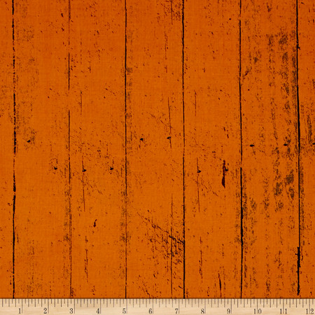 Jeepers Creepers Tonal Wood Plank Orange Fabric By The Yard