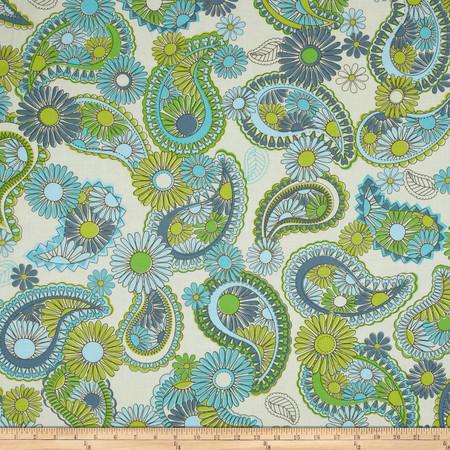 Jenean Morrison Lovelorn Paisley Blue Fabric