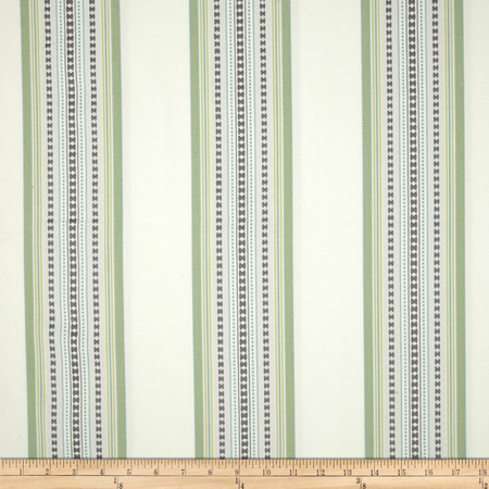 Jennifer Adams Home Bukara Stripe Jacquard Pearl Grey Fabric