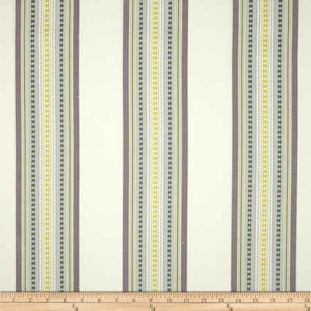 Jennifer Adams Home Bukara Stripe Jacquard Seafoam Fabric By The Yard