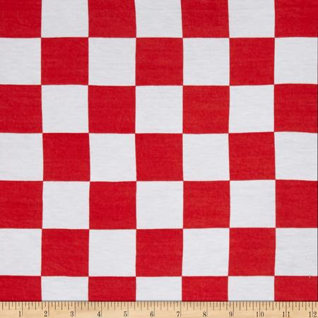 Jersey Knit Checkered Fabric
