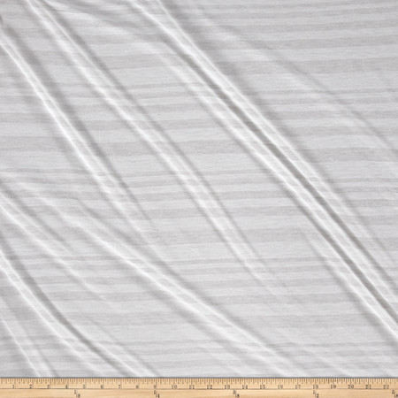 Jersey Knit Medium Stripe White/White Fabric By The Yard