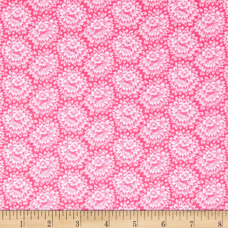 Jeweltone Classics Floral Coral Fabric By The Yard