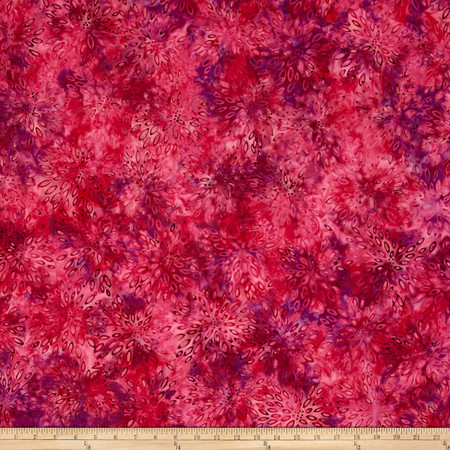 Jinny Beyer Malam Batiks III Burst Raspberry Fabric By The Yard