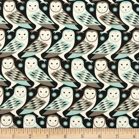 Joel Dewberry Birch Farm Barn Owl Egg Blue Fabric