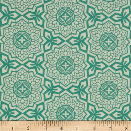 Joel Dewberry Botanique Mosaic Bloom Teal Fabric