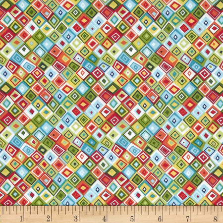 Jolly Farm Geometric Multi Fabric