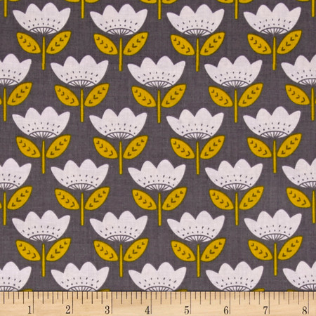 Josephine Retro Bloom Iron Fabric By The Yard