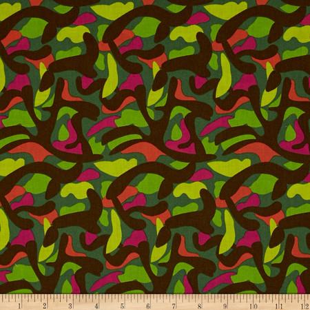 Jungle Camo Multi Fabric By The Yard