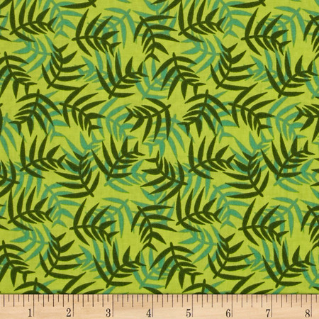 Jungle Ferns Green Fabric By The Yard