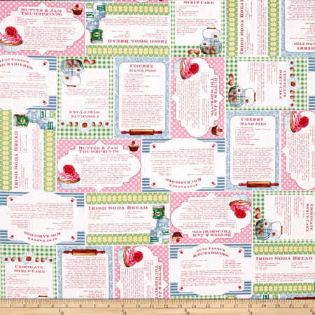 Just Desserts Recipes Multi Fabric By The Yard