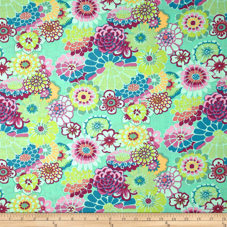 Kaffe Fassett Collective Asian Circles Green Fabric By The Yard