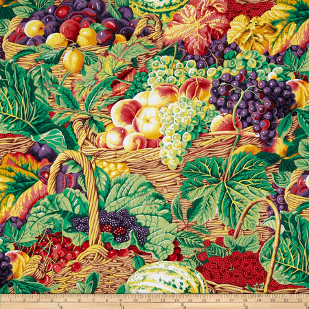 Kaffe Fassett Collective Market Basket Natural Fabric By The Yard