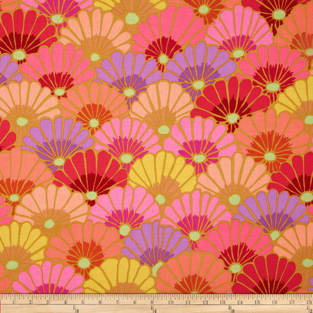 Kaffe Fassett Collective Thousand Flowers Pink Fabric By The Yard