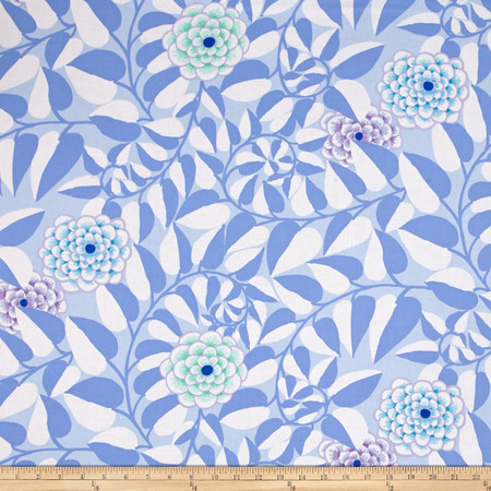 Kaffe Fassett Collective Vine Blue Fabric By The Yard