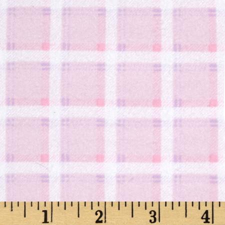 Kanvas Bunny Hop Flannel Soft Plaid Cotton Candy Fabric