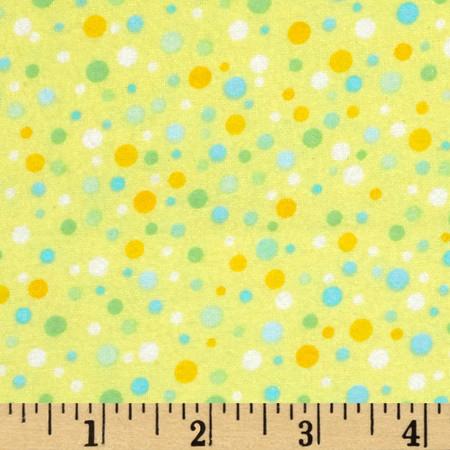 Kanvas Bunny Hop Flannel Soft Spot Lemon Fabric