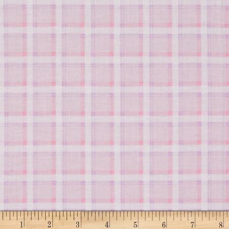 Kanvas Bunny Hop Soft Plaid Cotton Candy Fabric
