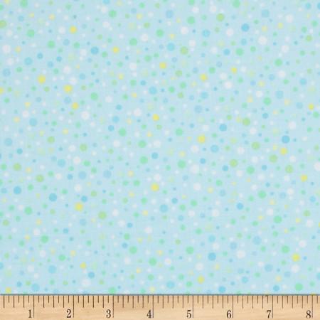 Kanvas Bunny Hop Soft Spot Baby Blue Fabric
