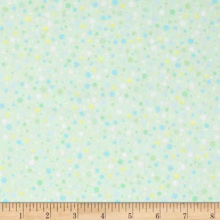 Kanvas Bunny Hop Soft Spot Mint Fabric