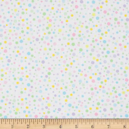 Kanvas Bunny Hop Soft Spot White/Pastel Fabric