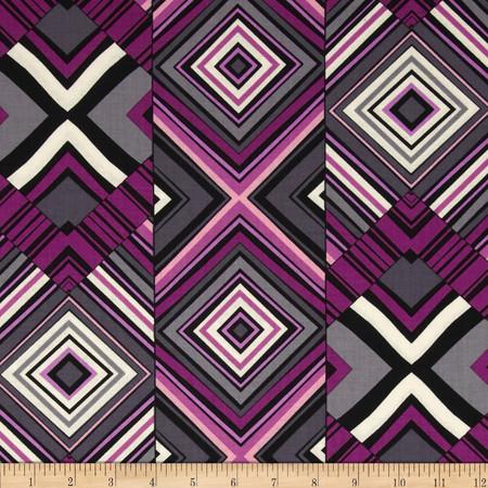 Kanvas Felicity Diamond Mine Berry Fabric By The Yard
