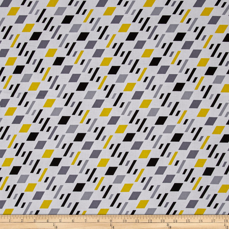 Kanvas Graphix Rainbow Windows White Fabric