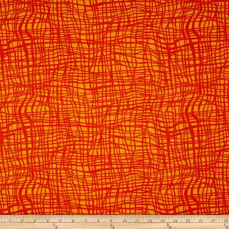 Kanvas Jungle Jive Jungle Vine Orange Fabric