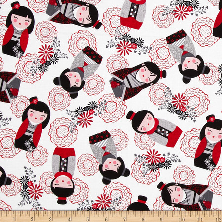 Kanvas Little Harajuku White Fabric