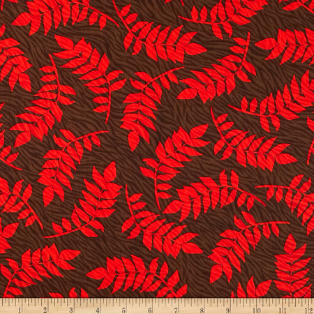 Kanvas Sew Rousseau  Zebra Fern Brown Fabric