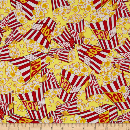 Kanvas That's Hollywood Movie Munchies Butter Fabric By The Yard