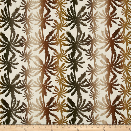 Kanvas The Camo Effect Rainbow Palm Cream Fabric