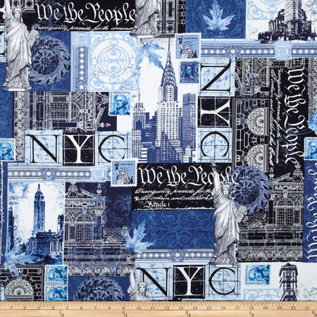 Kanvas To Rome With Love We the People Navy Fabric