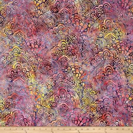 Kaufman Artisan Batiks Portofino Collage Sorbet Fabric By The Yard