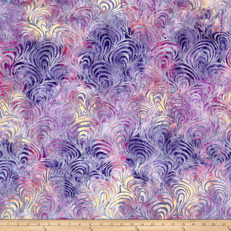 Kaufman Artisan Batiks Portofino Curls Sorbet Fabric By The Yard