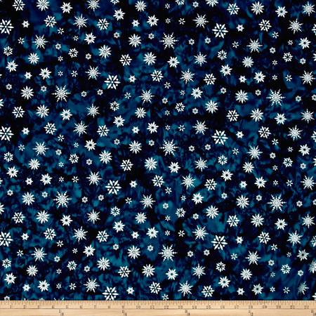 Kaufman Batiks Noel Metallic Snowflake Winter Fabric By The Yard