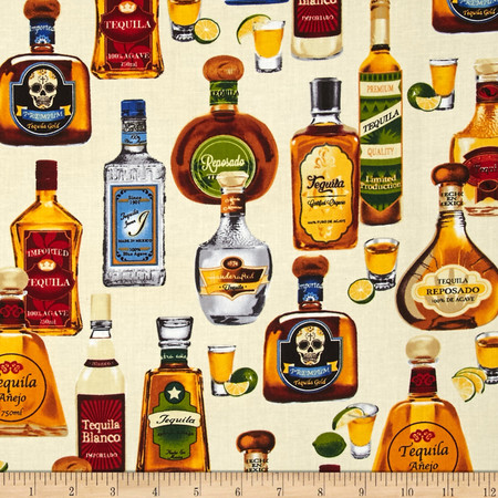 Kaufman Cheers Tequila Ivory Fabric