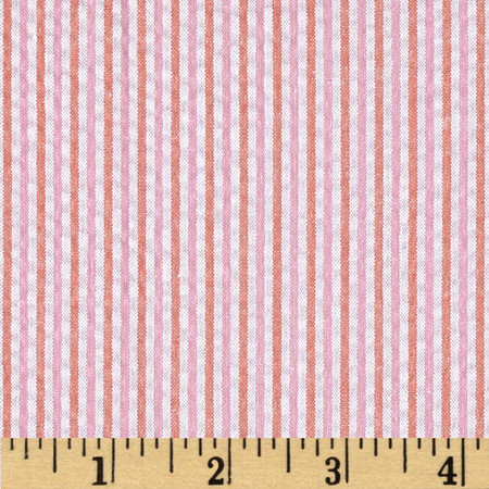 Kaufman Classic Seersucker Stripe Sorbet Fabric By The Yard