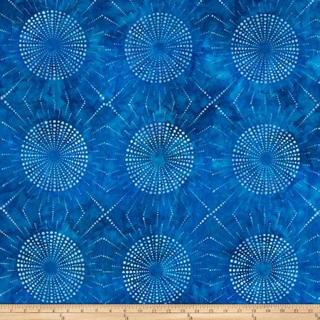 Kaufman Elemental Batiks Dots N' Spots Starburst Cornflower Fabric