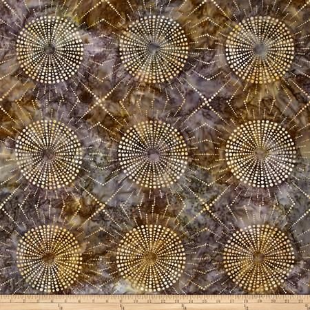 Kaufman Elemental Batiks Dots N' Spots Starburst Hazelnut Fabric