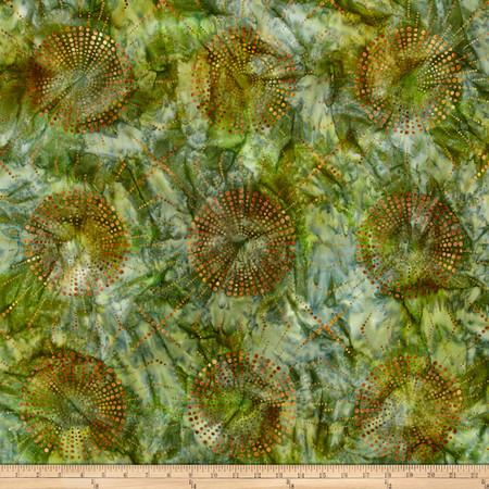 Kaufman Elemental Batiks Dots N' Spots Starburst Meadow Fabric