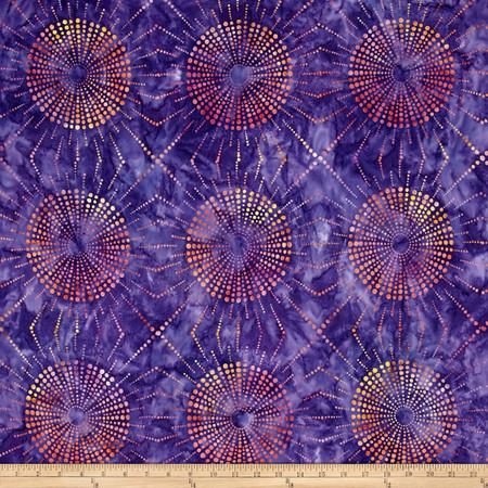 Kaufman Elemental Batiks Dots N' Spots Starburst Pansy Fabric