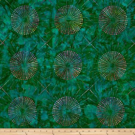 Kaufman Elemental Batiks Dots N' Spots Starburst Sweet Pea Fabric