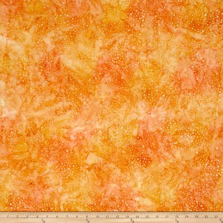Kaufman Elemental Batiks Tonal Dots Mango Fabric By The Yard