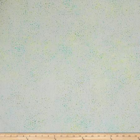 Kaufman Elemental Batiks Tonal Dots Mint Fabric By The Yard