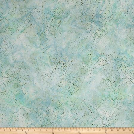 Kaufman Elemental Batiks Tonal Dots Seafoam Fabric By The Yard